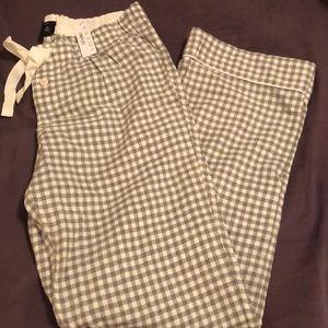 NWT J. Crew xs cotton pajama pant